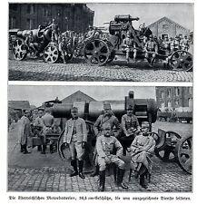 1914 Lüttich-Löwen-Antwerpen: Die österr.30,5 cm-Geschütze *  WW1