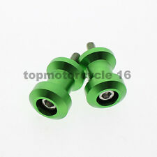 FXCNC for Kawasaki Ninja 300R EX300 13-14 Swingarm Spool Slider 10mm Screw Green