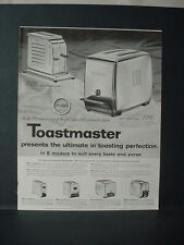 1956 Toastmaster Toaster Appliance Full Page Vintage Print Ad 10762