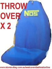 2 BLUE NOS THROW OVER, SEAT COVER,AUDI,BMW,FORD,HOLDEN ASTRA,BERLINA, BARINA