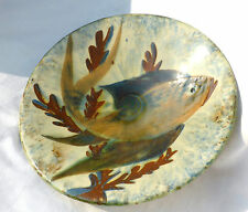 Studio pottery Fish Dish (signed) Wall Charger 24cm