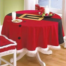Round Dia 148cm Christmas Tablecloth Party Home Restaurant Decor Xmas Ornaments