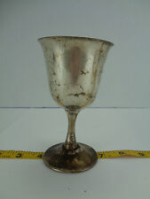 "Sheridan EPS Silver-plate Goblet Stem Footed Cup Vintage 5 1/4"" Tall"