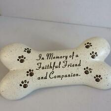 New DOG CAT PET MEMORIAL BONE Grave Graveside Faithful Friend Memory Home Garden