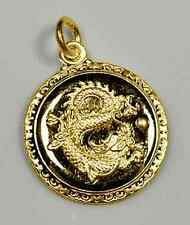 LOOK Chinese Dragon Zodiac Pendant ARIES Gold plated sterling Silver .925 charm