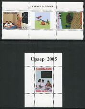 SURINAM 2005 UPAEP Armut Schule Landwirtschaft 2007-08 + Block 98 ** MNH