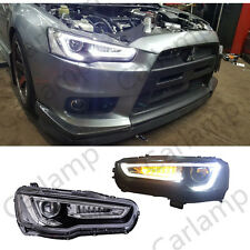 MITSUBISHI LANCER & EVO X 2008-2016 YEAR LED HEADLIGHTS DUAL BEAM HID PROJECTOR