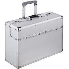 Valise mallette de pilote XL en Alu pilot case trolley à roulettes avec poignée