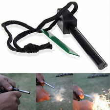 Camping Hunting Large Magnesium Flint And Steel Striker Survival Fire Stick New