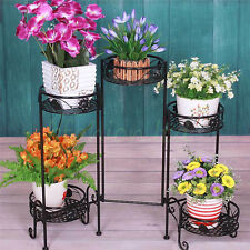 5 Pots Holder Separable Metal Plant Stand Flower Display Shelf Garden Patio UK