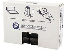 Inteplast Group S243306K High-Density Can Liner, 24 x 33, 16gal, 6mic, Black, 50