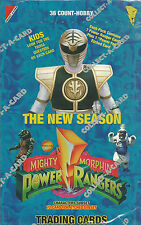 """Mighty Morphin Power Rangers """"The New Season"""" Factory Sealed Box  Trading Cards"""