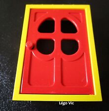 Lego Fabuland 4071a + 4072 Door Porte Jaune Yellow + Rouge Red du 3668 3678 3654