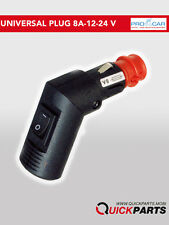 Macho Din Enchufe de Mechero de Coche 12/24V - switch, 0/180 °, Fuse-Procar 67747000