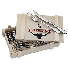 WMF Steakbesteck 12tlg Grillbesteck 6 Personen Steakmesser Steakgabel Premium