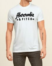 ABERCROMBIE & FITCH MEN'S GRAPHIC TEE T SHIRT 【 MEDIUM 】123-238-1948-100 WHITE
