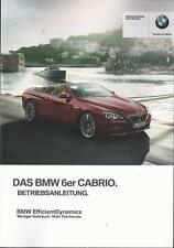 BMW  6er CABRIO F12 Betriebsanleitung 2015 Bedienungsanleitung Cabriolet BA