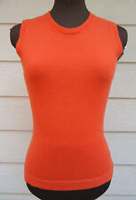$695 NEW Giorgio Armani Cashmere Dark Orange Tank Sweater 40 4 Sleeveless Crew