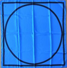 Louis Vuitton Sol Lewitt SILK Square The Earth is round Blue/Black seidentuch
