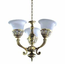 """3-Light Contemporary-Style ANTIQUE GOLD Chandelier (D20"""" x H18"""") Medium-Based"""