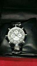 Guess Men's Silver-Tone Chronograph Watch with Genuine Crystals ****sexy Watch**