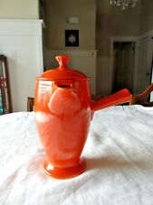 Rare Vintage Fiesta Ware Old RED Stick Demitasse Coffee Pot Free Shipping