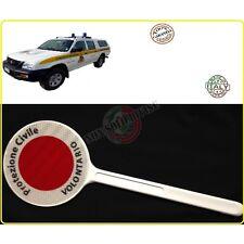 Paletta Segnaletica Ambo le Parti Rosse Protezione Civile Senza Logo Volontari A