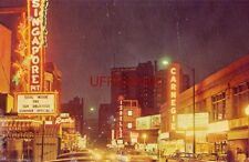 1964 NIGHT ALONG RUSH STREET, the gay main artery of near North Side CHICAGO, IL