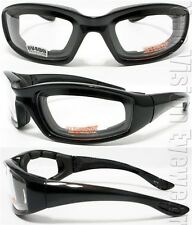 Clear Lens Thick EVA Foam Padded Motorcycle Glasses SH 77CL