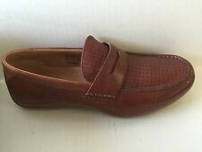 Fossil Men's Brown Leather Moc style shoes Size 9 Ferdinand