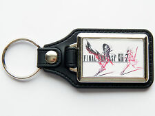 FINAL FANTASY 13-2 XIII-2 Video Game High Quality Chrome And Leather Keyring