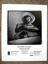BLUES PHOTO: PHILADELPHIA JERRY RICKS with acoustic guitar by MARC NORBERG
