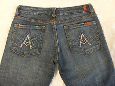 7 For All Mankind A Pocket 26 x 32 1/2 Bootcut Rhinestones Women's Jeans