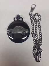 Ford Escort Mk1 2 Door Saloon ref78 emblem polished black case mens pocket watch