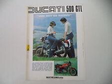advertising Pubblicità 1976 MOTO DUCATI 500 GTL