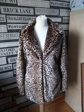 VINTAGE BOUTIQUE FAUX FUR LEOPARD PRINT JACKET NEW TAGGED UK 14 COST  £45
