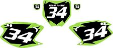 2003-2012 Kawasaki KX250 Custom Pre-Printed Black Backgrounds with Green Shock