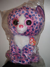 """Ty 17-18"""" JUMBO Beanie Boos REAGAN the Leopard Cat Claires Exclusive ~ MWMTS NEW"""