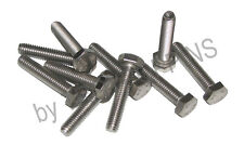 10-SS M6 X 30MM HH HEX HEAD STAINLESS STEEL METRIC MACHINE SCREWS BOLTS 6MM