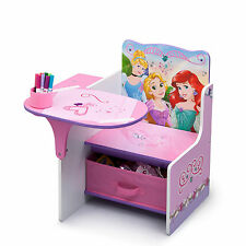 NEW DELTA CHILDREN DISNEY PRINCESS KIDS STUDY PLAYROOM CHAIR DESK & STORAGE BIN