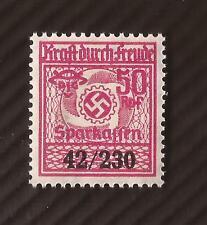 Nazi Germany 3rd Third Reich SPARKASSEN Kraft Durch Freude 50 Rpf savings stamp
