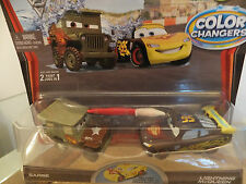 Disney Pixar Cars 2 Color/Cambio de Color 1:55 Mc Queen & Sarge/cambian Colore