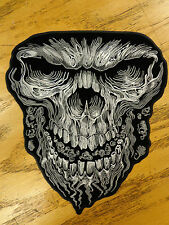 Skull Large Sinister Outlaw Saying Vest Patch Motorcycle Biker Patch Club Patch