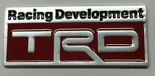 x1 New Aluminum TRD Emblem Replaces OEM Toyota Racing Development Badge / Decal