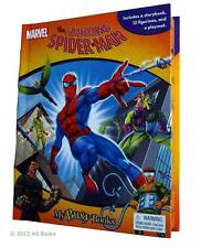 The Amazing Spiderman My Busy Board Book & Toy 12 Figurines Giant Play Mat New