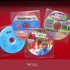 Pack de 4 CD´s con Software Claris Works 5 Adobe Acrobat Reader 5.0.5 FrontPage