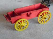 "Vintage 1950s Auburn Rubber Red Coach Wagon 5 1/4"" Long"