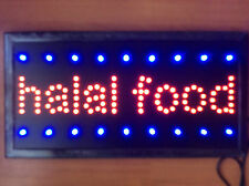 Flashing   LED HALAL FOOD Shop Sign Neon Display Window Hanging Light