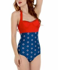 FABLES BY BARRIE ALLISON ONE-PIECE SWIMSUIT BATHING SUIT HALTER PIN UP XL NWT