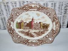 "VINTAGE JOHNSON BROTHERS OLD LONDON CAKE SANDWICH SERVING PLATE 12""x10"" PLATTER"
